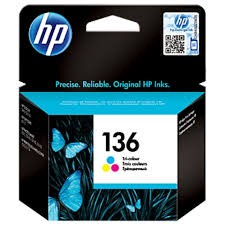 HP 136 Tri-Colour Original Ink