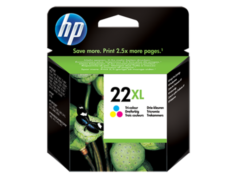 HP 22XL Tri-Colour Original Ink